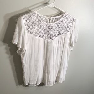 Short sleeve abercrombie eyelet top
